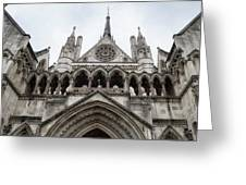 Entrance To The Royal Courts London Greeting Card