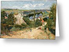 Entrance To The Village Of Osny Greeting Card