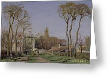 Entrance To The Village Of Voisins Greeting Card