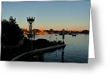 Epcot At Dusk Greeting Card