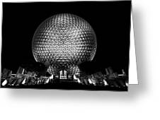 Epcot In Black And White Greeting Card
