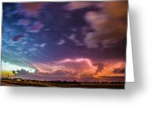 Epic Nebraska Lightning 009 Greeting Card