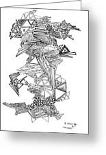 Epitaxy Ink Drawing By Regina Valluzzi Greeting Card