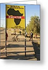 Equator In Kenya Greeting Card