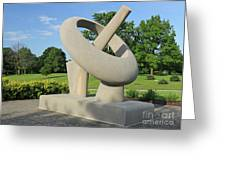 Equatorial Sundial Crown Hill Cemetery Indianapolis Greeting Card