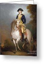 Equestrian Portrait Of George Washington Greeting Card by Rembrandt Peale