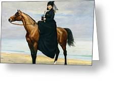 Equestrian Portrait Of Mademoiselle Croizette Greeting Card