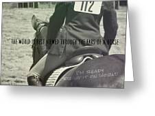 Equitation Quote Greeting Card