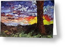 Erda Sunset Greeting Card