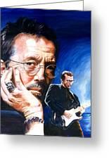Eric Clapton Blues Lake Greeting Card
