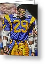 Eric Dickerson Los Angeles Rams Art Greeting Card