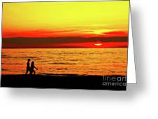 Erie Beach Sunset Greeting Card