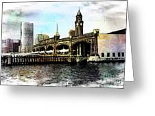 Erie Lakawanna Ferry And Train Station Greeting Card