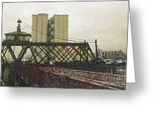 Erie Street Swing Bridge Greeting Card