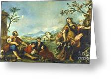 Erminia And The Shepherds Greeting Card