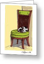 Ernie And Green Chair Greeting Card