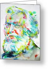 Ernst Haeckel - Watercolor Portrait Greeting Card
