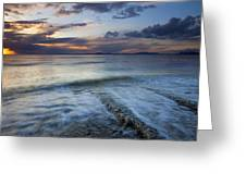 Eroded By The Tides Greeting Card
