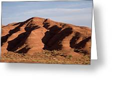 Eroded Hills In Sunset Light Greeting Card