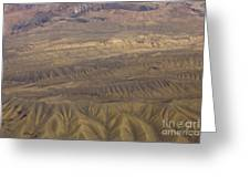 Eroded Hills Greeting Card
