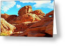 Eroded Red Sandstone Greeting Card