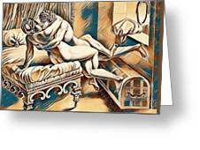 Erotic Abstract Four Greeting Card