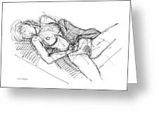 Erotic Art Drawings 7 Greeting Card