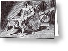 Erotic Drawing Six Greeting Card