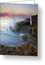 Eruption At Dawn Greeting Card