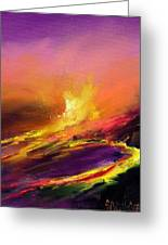 Eruption By Night Greeting Card