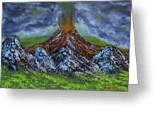Eruption Greeting Card