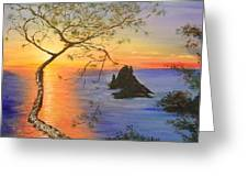 Es Vedra Island Off Ibiza South Coast Greeting Card