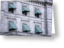 Escambia County Courthouse Windows Greeting Card