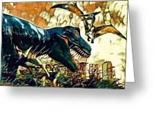 Escape From Jurassic Park Greeting Card