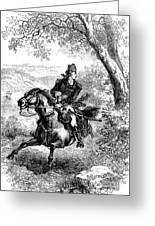 Escape Of Benedict Arnold Greeting Card