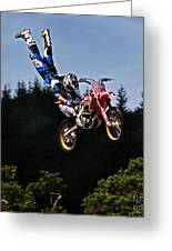 Escaping Motorbike Greeting Card