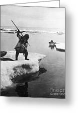 Eskimo Fishermen Greeting Card