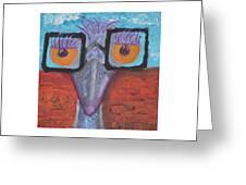 Esmeralda The Emu Greeting Card