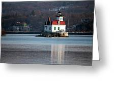 Esopus Lighthouse In December Greeting Card