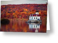 Esopus Lighthouse In Late Fall #1 Greeting Card