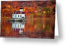 Esopus Lighthouse In Late Fall #2 Greeting Card