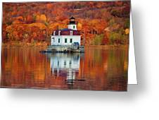 Esopus Lighthouse In Late Fall #3 Greeting Card