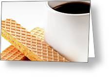 Espresso And Lemon Wafer Greeting Card