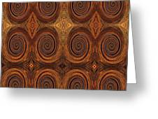Essence Of Rust - Tiled Greeting Card