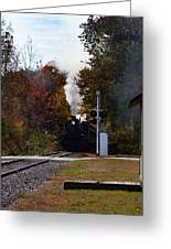 Essex Steam Train Coming Into Fall Colors Greeting Card
