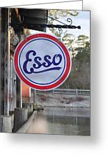 Esso Sign  Greeting Card
