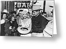 Estelle Winwood Marilyn Monroe Clark Gable Eli Wallach Montgomery Clift The Misfits Reno Nevada 1961 Greeting Card