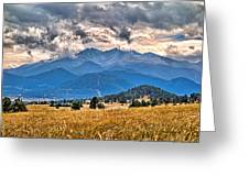 Estes Park From Glen Haven 3 Greeting Card