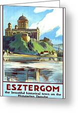 Esztergom, Beautiful City On Danube River, Hungary,  Greeting Card