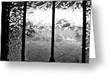 Etched In Glass Greeting Card